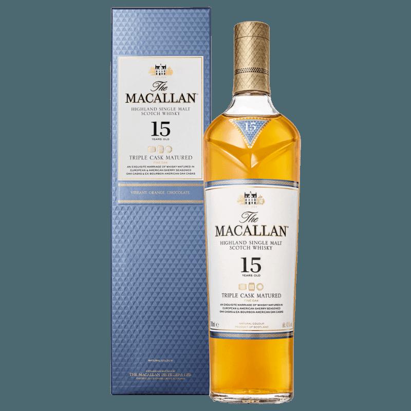 Comprar MACALLAN 15 AÑOS TRIPLE CASK al mejor precio en BNG Bebidas - Compra Whiskys MACALLAN online al mejor precio en BNG bebidas.